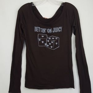 Juicy Couture Long Sleeve Graphic Cotton T-shirt